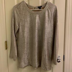 Ann Taylor silver party blouse